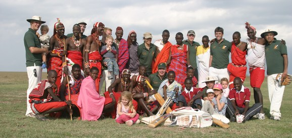 The Dik-Diks team from Tanzania visited Laikipia and played against the Maasai Cricket Warriors on 28th August 2011